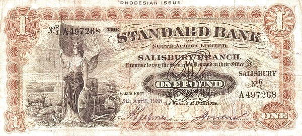 Rhodesia 1 Pound (1917-1938)