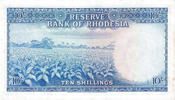 Rhodesia 10 Shillings (1964 Elizabeth II)