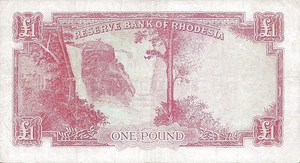 Rhodesia 1 Pound (1964 Elizabeth II)