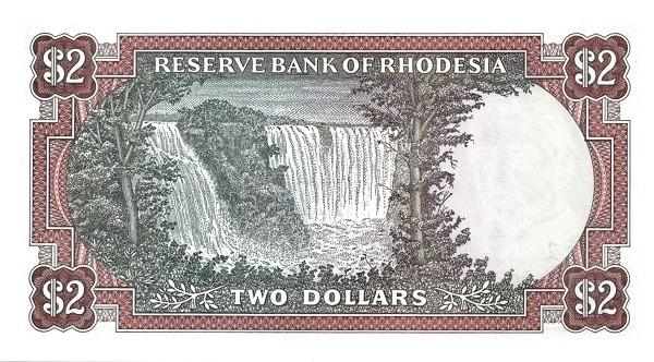 "Rhodesia 2 Dollars (1976-1979 ""Arms"" Dollar)"