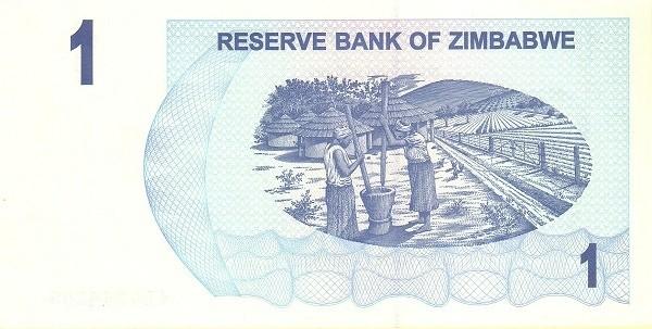 Zimbabwe 1 Dollar (2006-2008 Bearer Cheques Emergency)