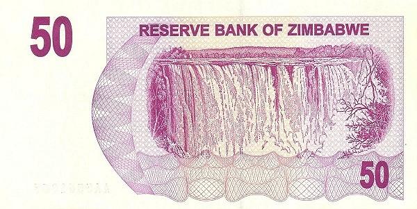 Zimbabwe 50 Dollars (2006-2008 Bearer Cheques Emergency)