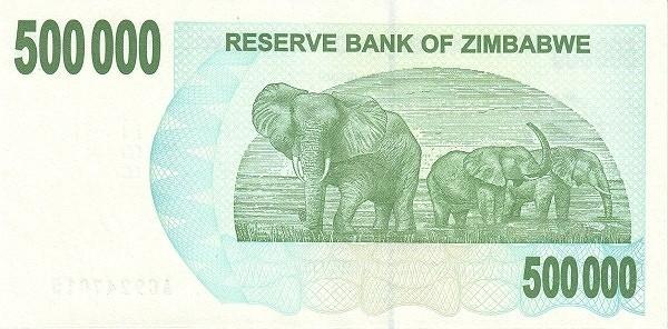 Zimbabwe 500000 Dollars (2006-2008 Bearer Cheques Emergency)
