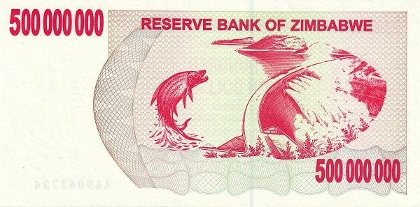 Zimbabwe 500000000 Dollars (2006-2008 Bearer Cheques Emergency)