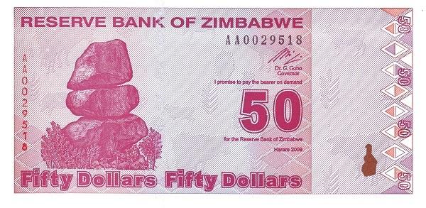 Zimbabwe 50 Dollars (2009)
