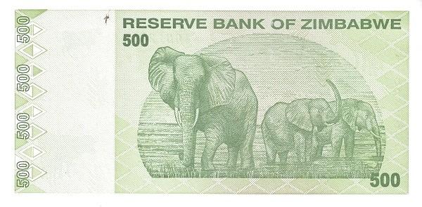 Zimbabwe 500 Dollars (2009)