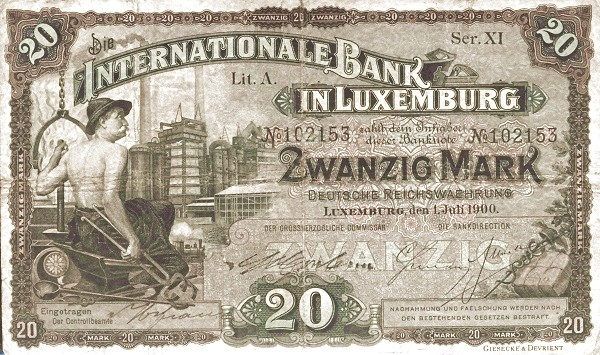 Luxembourg 20 Mark (1900)