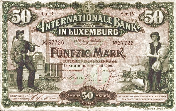 Luxembourg 50 Mark (1900)