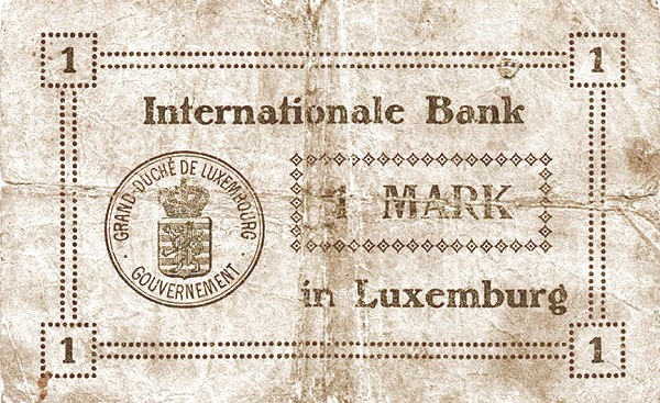 Luxembourg 1 Mark (1914)