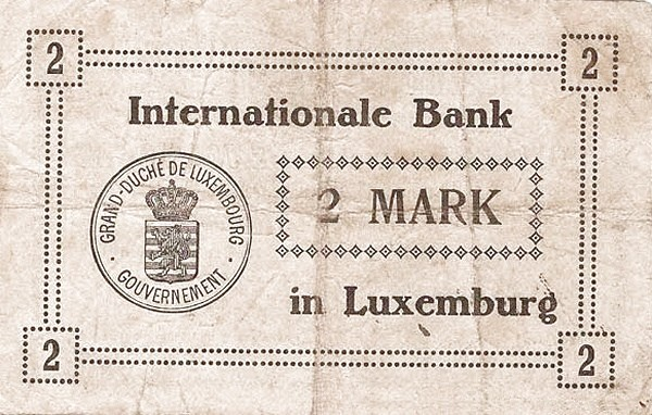 Luxembourg 2 Mark (1914)