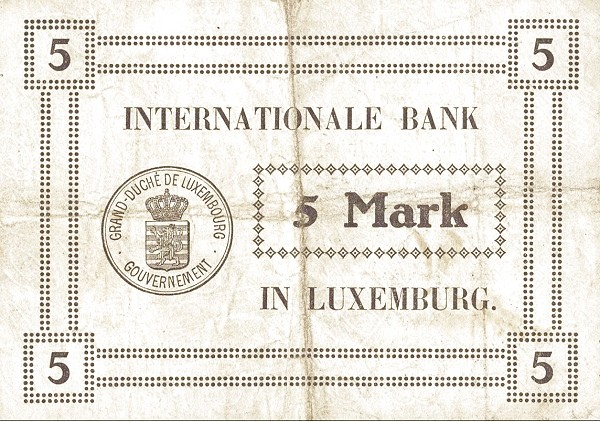 Luxembourg 5 Mark (1914)