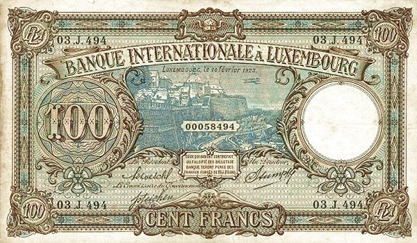 Luxembourg 100 Francs (1923)