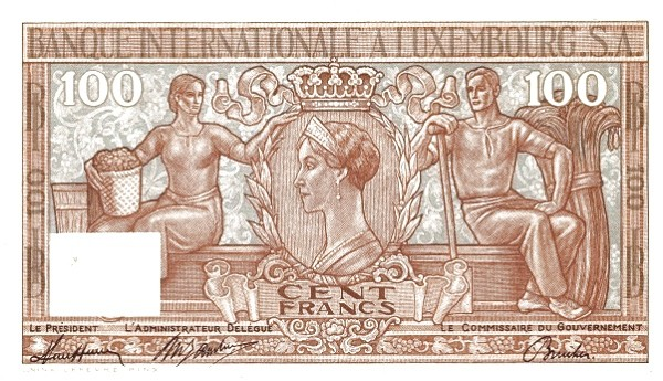 Luxembourg 100 Francs (1947)
