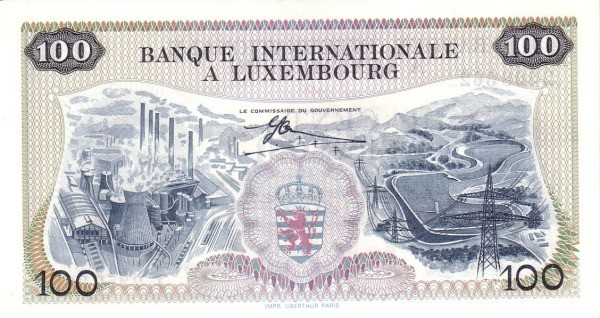 Luxembourg 100 Francs (1968)