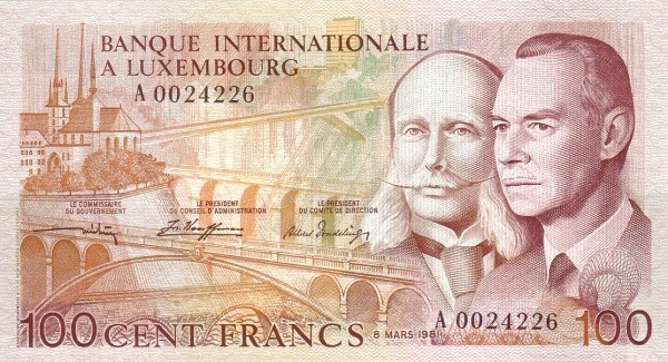 Luxembourg 100 Francs (1981)