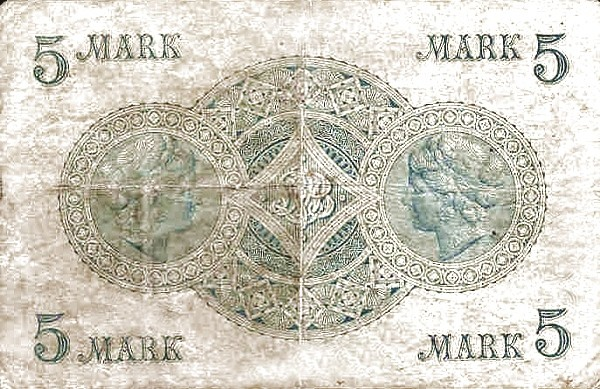Luxembourg 5 Mark (1876)