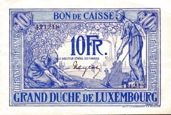 Luxembourg 10 Francs (1923-1927)