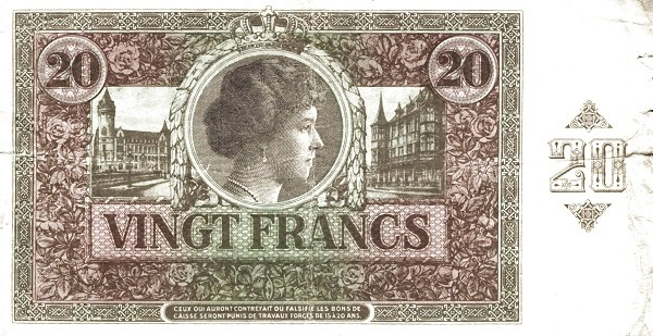 Luxembourg 20 Francs (1923-1927)