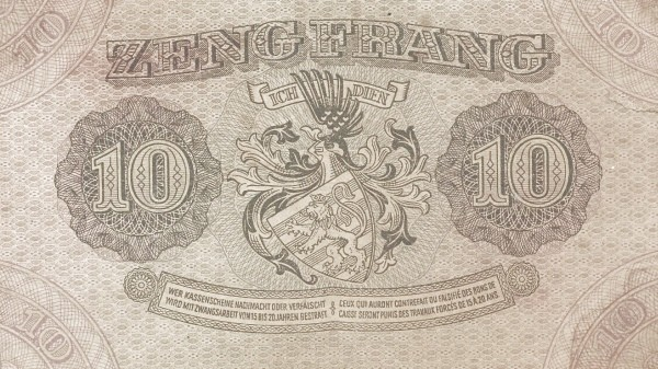 Luxembourg 10 Frang (1940)