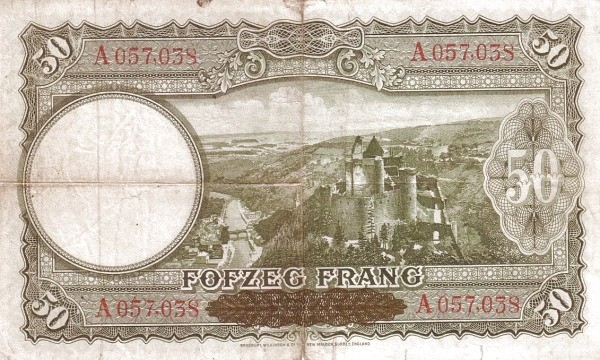 Luxembourg 50 Frang (1943-1944)
