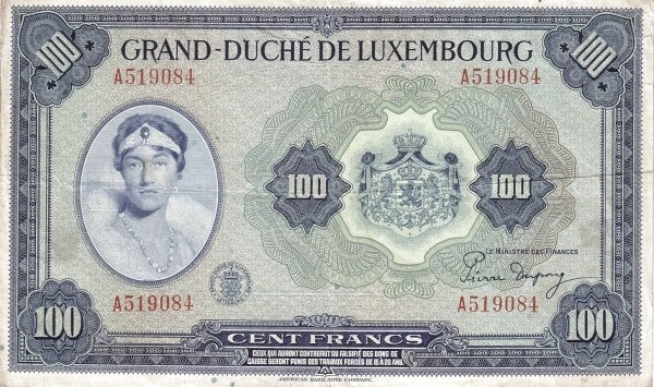 Luxembourg 100 Frang (1943-1944)