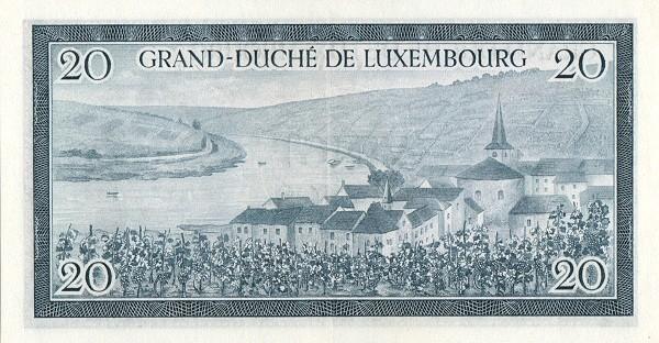 "Luxembourg 20 Francs (1954-1956 ""Grand Duchess Charlotte"")"