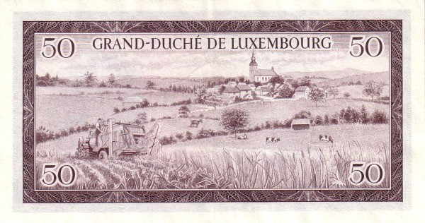 "Luxembourg 50 Francs (1961-1963 ""Grand Duchess Charlotte"")"