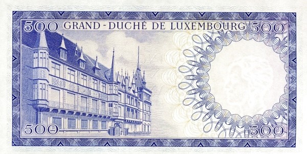 "Luxembourg 500 Francs (1961-1963 ""Grand Duchess Charlotte"")"