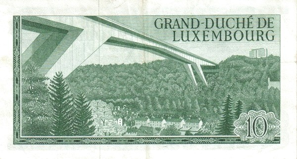 "Luxembourg 10 Francs (1966-1972 ""Grand Duke Jean"")"