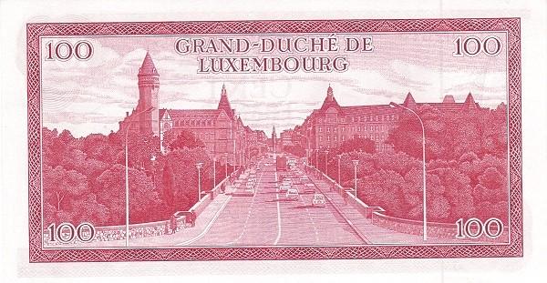 "Luxembourg 100 Francs (1966-1972 ""Grand Duke Jean"")"