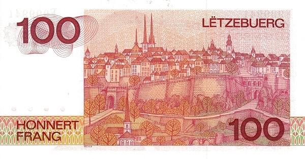 "Luxembourg 100 Francs (1980 ""Grand Duke Jean"")"