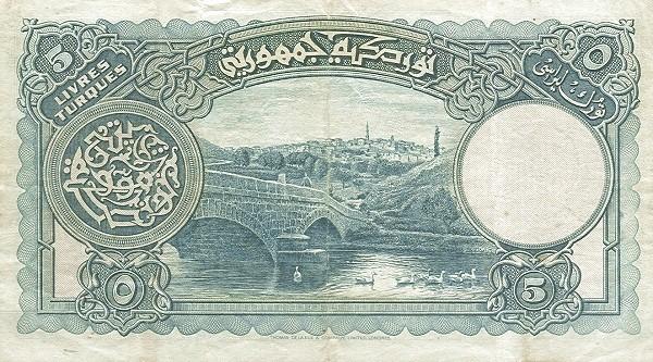 Turkey 5 Livres (1926)