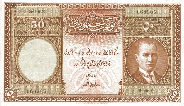 Turkey 50 Livres (1926)