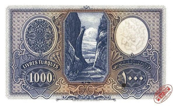 Turkey 1000 Livres (1926)