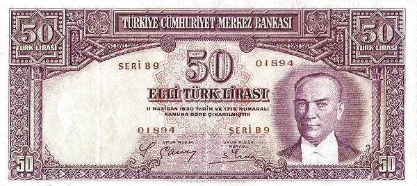 Turkey 50 Lirasi (1937-1939)