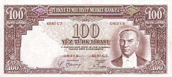 Turkey 100 Lirasi (1937-1939)