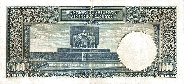 Turkey 1000 Lirasi (1937-1939)