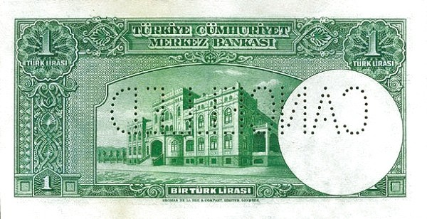 Turkey 1 Lirasi (1940)