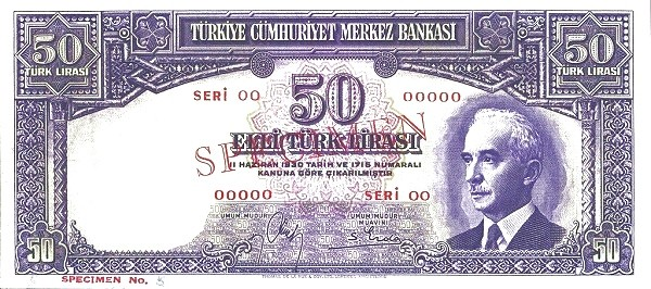 Turkey 50 Lirasi (1940-1944)