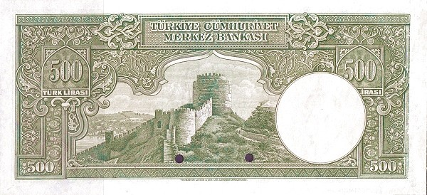 Turkey 500 Lirasi (1940-1944)