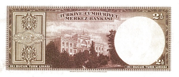 Turkey 2½ Lirasi (1940-1944)