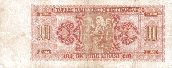 Turkey 10 Lirasi (1940-1944)