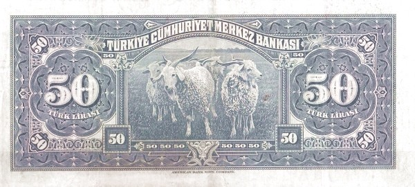 Turkey 50 Lirasi (1940-1944-3)