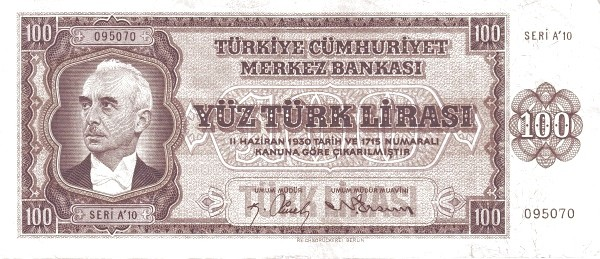 Turkey 100 Lirasi (1940-1944)
