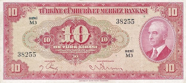 Turkey 10 Lirasi (1947-1948)