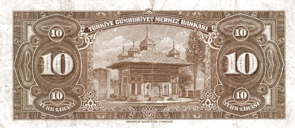 Turkey 10 Lirasi (1947-1948-2)