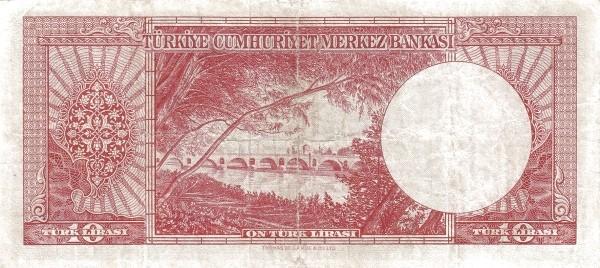 Turkey 10 Lirasi (1951-1961-2)