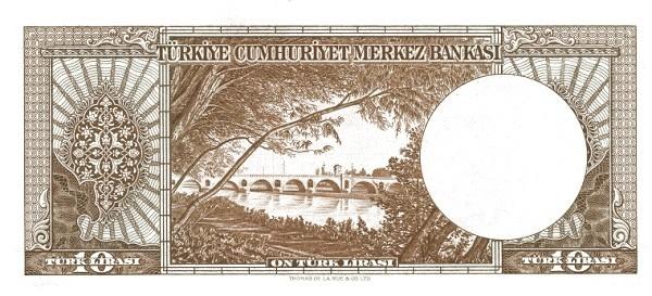 Turkey 10 Lirasi (1951-1961-3)