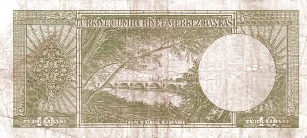 Turkey 10 Lirasi (1951-1961-4)