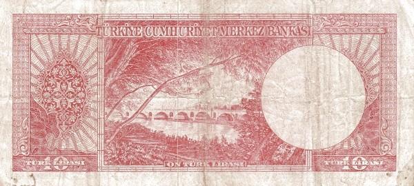 Turkey 10 Lirasi (1951-1961-5)